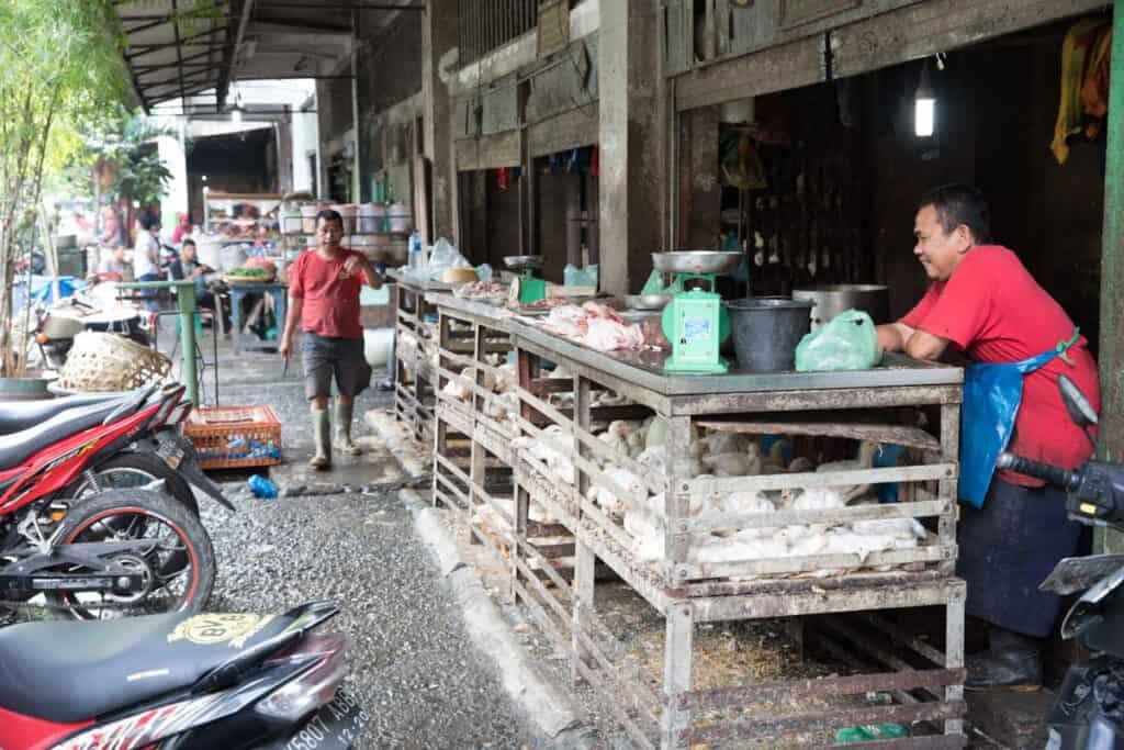 Kippenman markt in medan