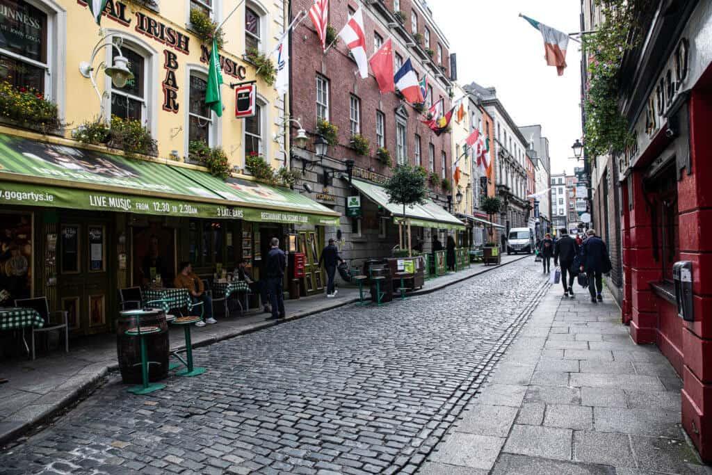 Straatje in Dublin