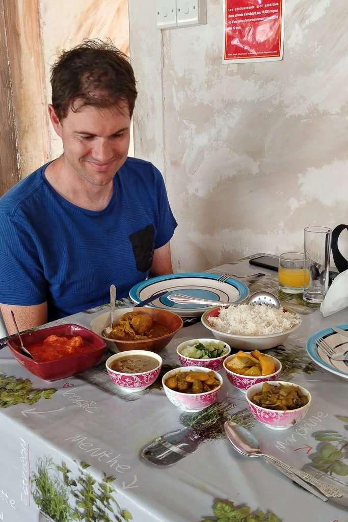 Indiase maaltijd Mauritius