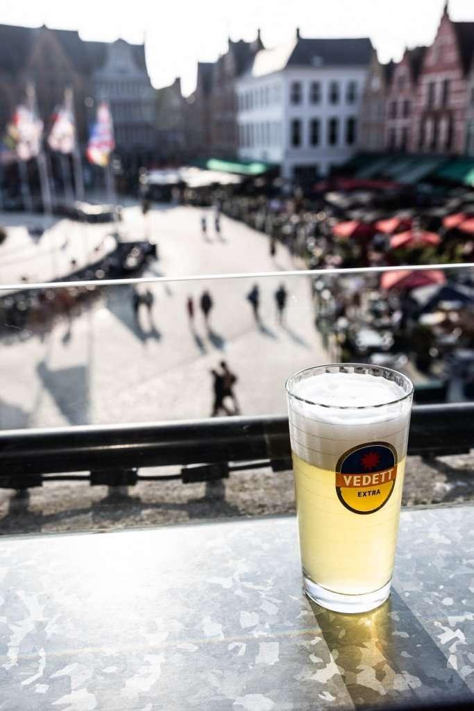Bier met uitzicht na culinair shoppen